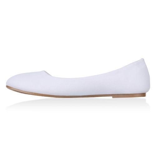 Damen Weiß Damen Klassische Klassische Ballerinas 1qRp05wn