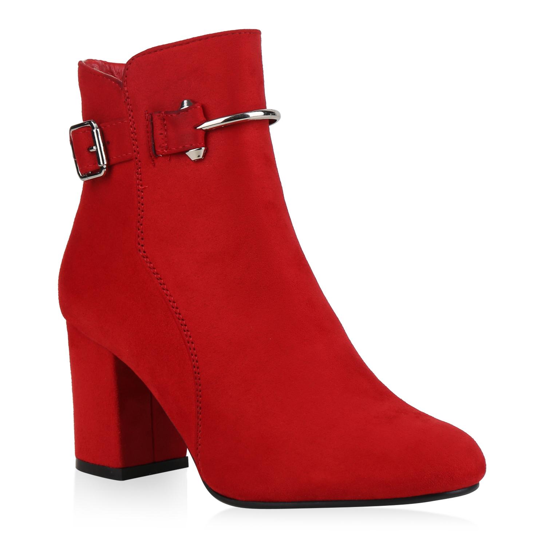 Damen Klassische Stiefeletten - Rot