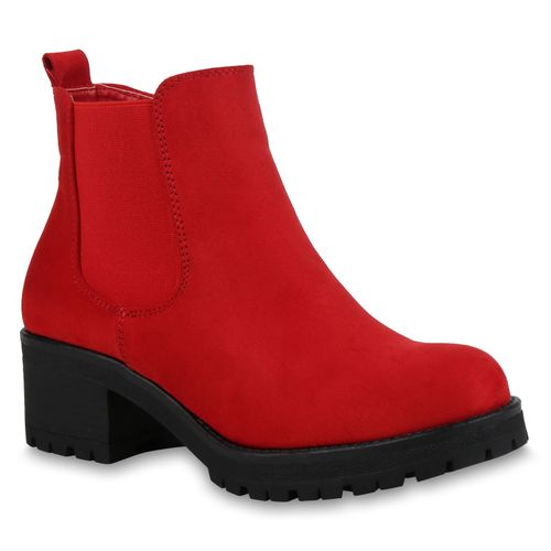 Damen Klassische Damen Stiefeletten Stiefeletten Damen Klassische Rot Rot Stiefeletten Klassische rIUIaSqw