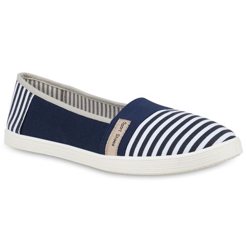 Damen Slippers Slip Ons - Blau