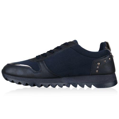 Billig Damen Schuhe Damen Sportschuhe in Dunkelblau 823666512