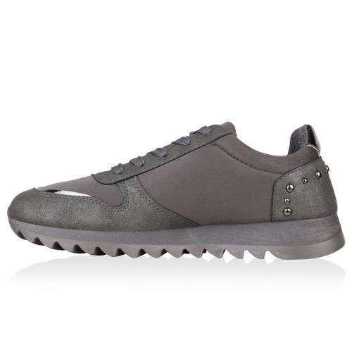 Billig Damen Schuhe Damen Sportschuhe in Grau 823666514