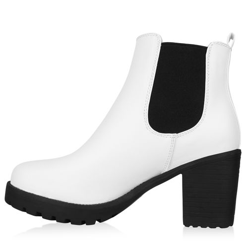 pretty nice da6b4 8a466 Damen Stiefeletten Chelsea Boots - Weiß