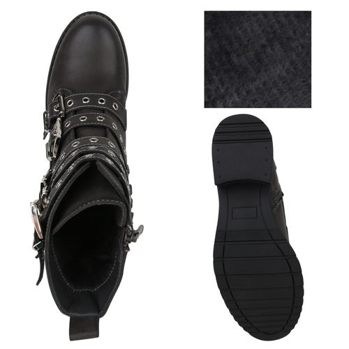 Billig Damen Schuhe Damen Stiefeletten in Grau 823683514