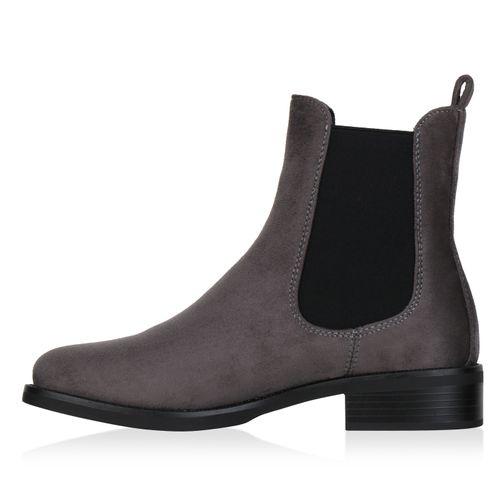 Damen Damen Grau Stiefeletten Chelsea Boots Chelsea Grau Damen Boots Stiefeletten rpXw6qp