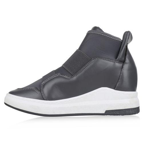 Wedges Sneaker Sneaker Sneaker Grau Damen Damen Wedges Grau Wedges Grau Damen nEOCC