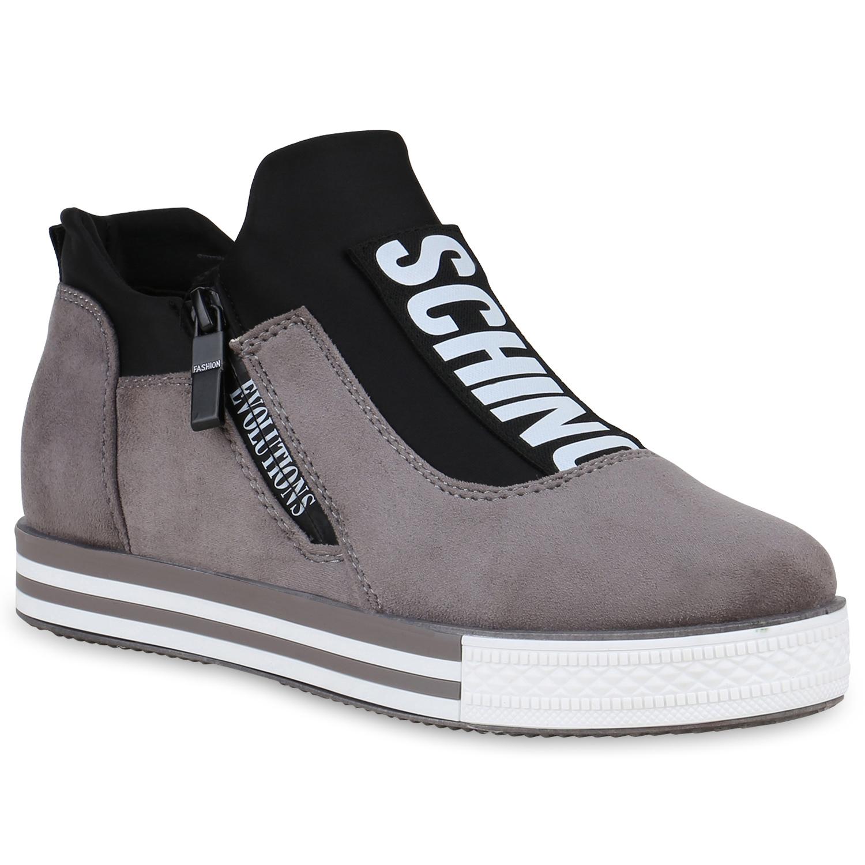 9ac66e8526d40 Damen Sneaker Wedges - Grau günstig kaufen