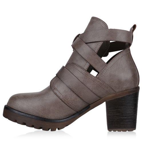 Billig Damen Schuhe Damen Stiefeletten in Khaki 823854481