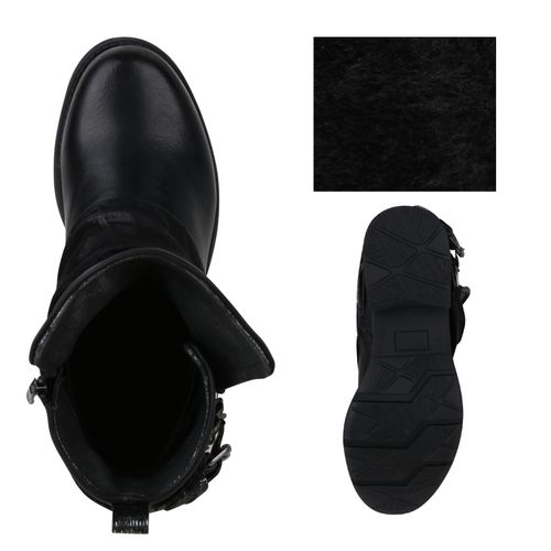 Billig Damen Schuhe Damen Stiefeletten in Schwarz 8239723401