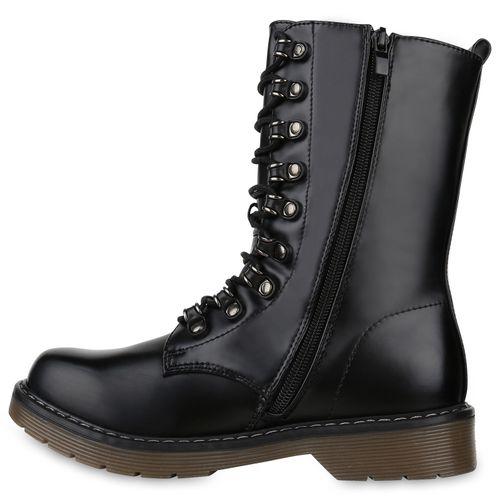 Worker Boots Schwarz Damen Schwarz Stiefeletten Damen Stiefeletten Boots Worker WAqYZnz7q