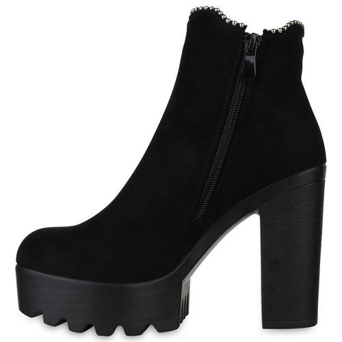 Billig Damen Schuhe Damen Stiefeletten in Schwarz 8240063401