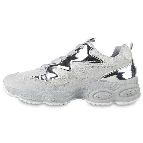 Billig Damen Schuhe Damen Sneaker in Hellgrau 824074486