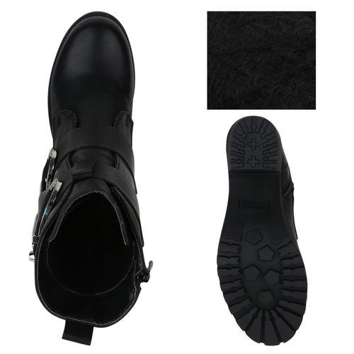 Billig Damen Schuhe Damen Stiefeletten in Schwarz 8240783401