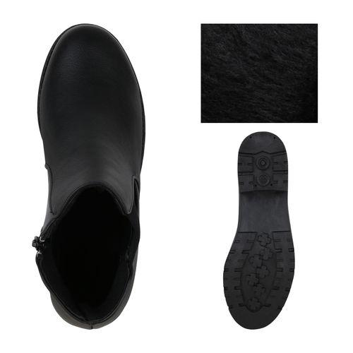 Schwarz Klassische Damen Stiefeletten Klassische Damen HXfT8wWqx