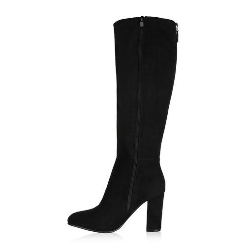 Billig Damen Schuhe Damen Stiefel in Schwarz 8241183401