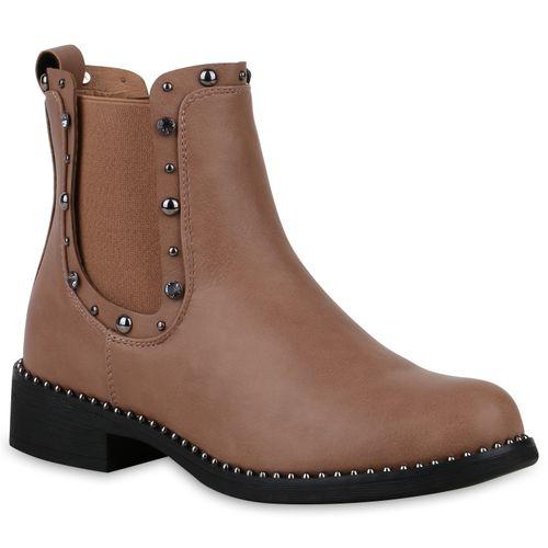 Damen Stiefeletten Chelsea Boots - Rosa