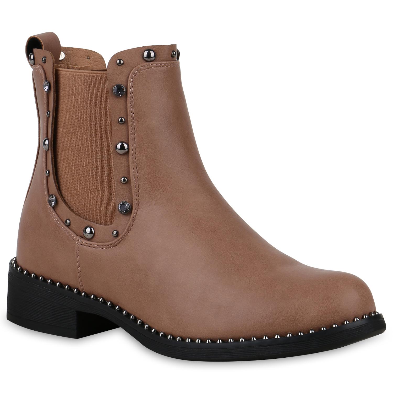 Stiefel für Frauen - Damen Stiefeletten Chelsea Boots Rosa › stiefelpardies.de  - Onlineshop Stiefelparadies