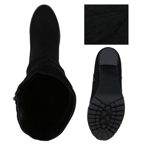 Billig Damen Schuhe Damen Stiefel in Schwarz 8241993401
