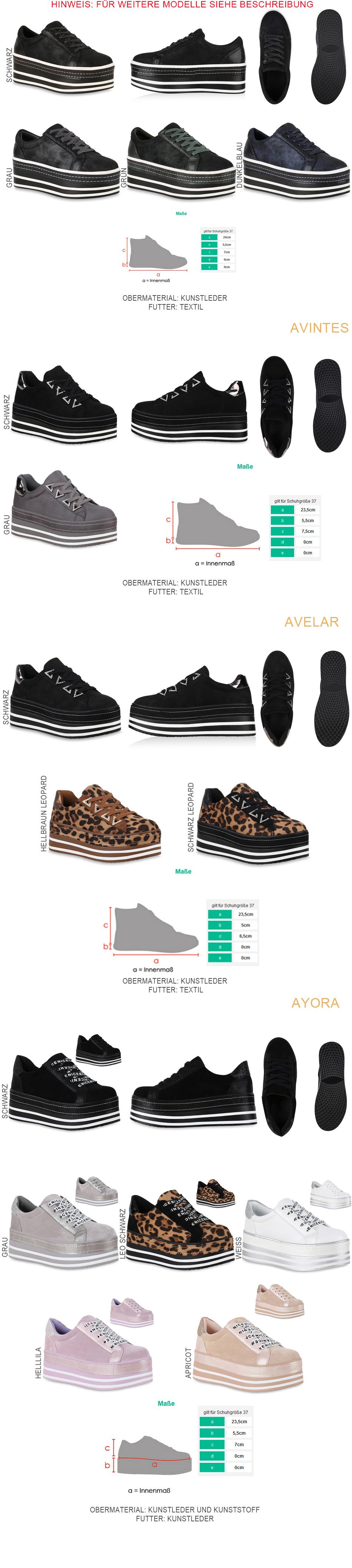 Details zu Damen Plateau Sneaker Glitzer Turnschuhe Schnürer Plateauschuhe 824237 Schuhe