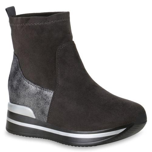 Damen Sneaker Slip Ons - Grau