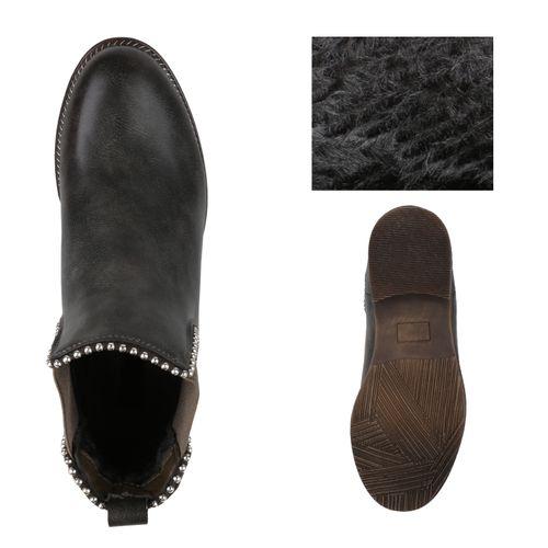 Boots Khaki Chelsea Damen Damen Stiefeletten Stiefeletten wqXFIgtwa