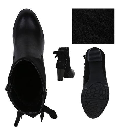 Damen Klassische Damen Klassische Stiefeletten Schwarz T8fHqfd