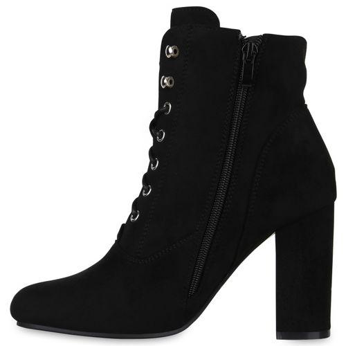 Damen Stiefeletten Damen Schwarz Stiefeletten Schnürstiefeletten Schnürstiefeletten Damen Schwarz qaFg8w