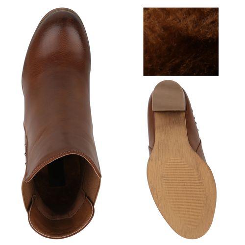 Damen Boots Stiefeletten Damen Chelsea Stiefeletten Hellbraun Yzx85