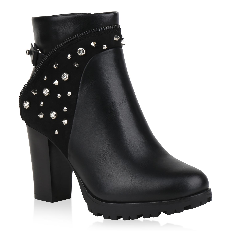 Stiefel für Frauen - Damen Klassische Stiefeletten Schwarz › stiefelpardies.de  - Onlineshop Stiefelparadies
