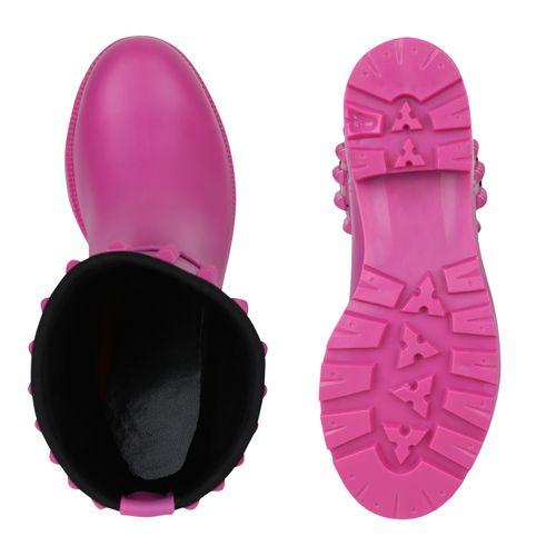 Billig Damen Schuhe Damen Stiefeletten in Pink 824696488
