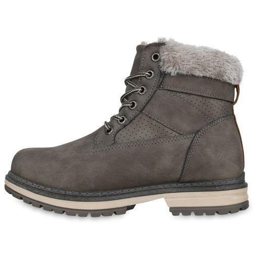 Stiefeletten Boots Stiefeletten Worker Stiefeletten Grau Boots Damen Damen Damen Boots Worker Worker Grau gqzxwTX