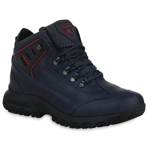 brand new 148cc 06304 Herren Outdoor Schuhe - Dunkelblau Rot