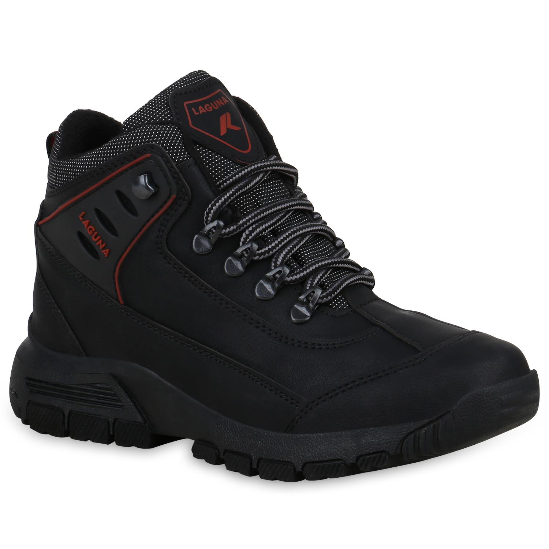 Damen Halbschuhe Outdoor Schuhe - Schwarz Rot