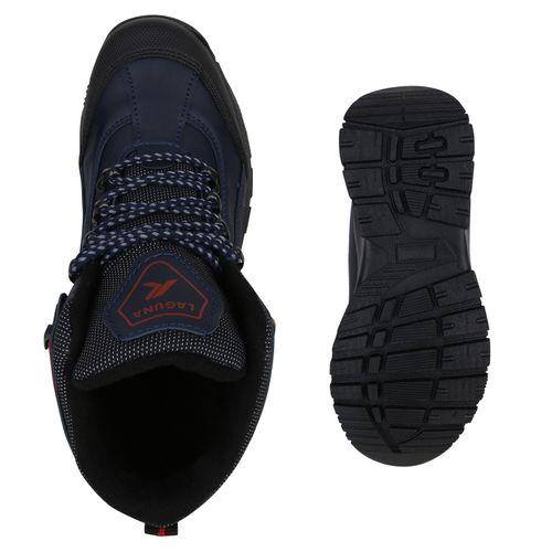 Damen Halbschuhe Outdoor Schuhe - Dunkelblau Rot Muster