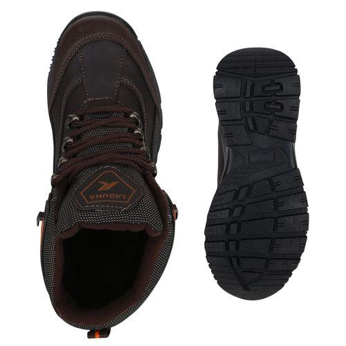 Damen Halbschuhe Outdoor Schuhe - Dunkelbraun Orange Muster