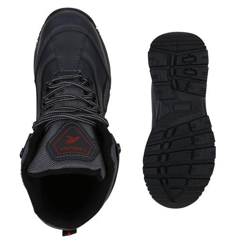 Damen Halbschuhe Outdoor Schuhe - Dunkelgrau Rot