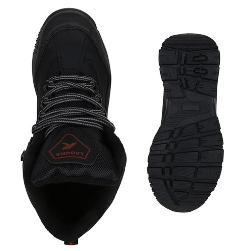 Muster Rot Halbschuhe Schwarz Schuhe Damen Outdoor ZBwaWC