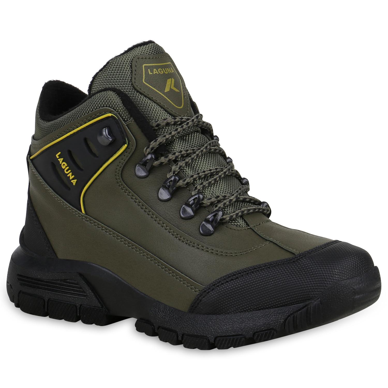 Damen Halbschuhe Outdoor Schuhe - Dunkelgrün Gelb Muster