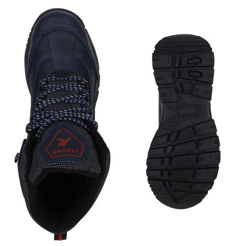 Damen Halbschuhe Outdoor Schuhe - Dunkelblau Rot
