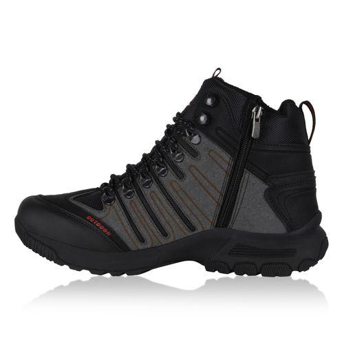 Herren Outdoor Schuhe - Schwarz Grau Rot
