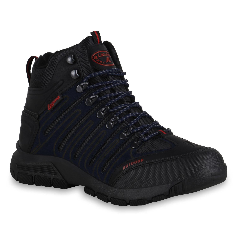 Herren Outdoor Schuhe - Schwarz Dunkelblau Rot
