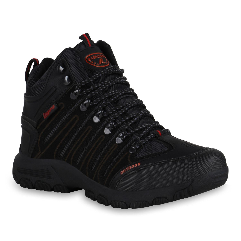Herren Outdoor Schuhe - Schwarz Rot