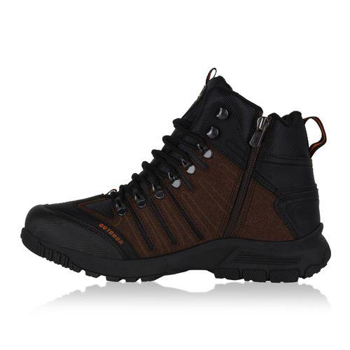Herren Outdoor Schuhe - Schwarz Braun Orange