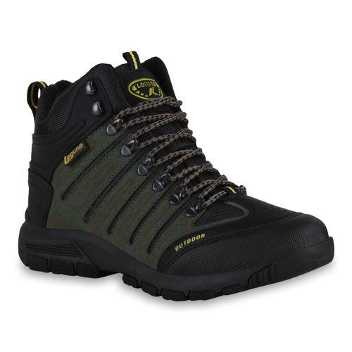 Herren Outdoor Schuhe - Schwarz Dunkelgrün Gelb