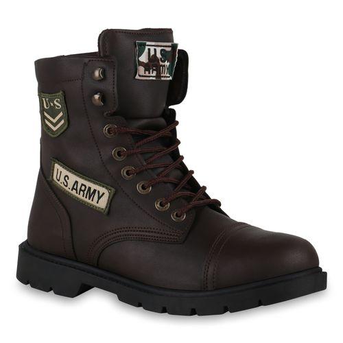 Herren Worker Boots - Dunkelbraun