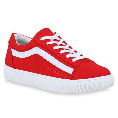 Damen Sneaker Sneaker Rot Damen Low BznqZwYwR
