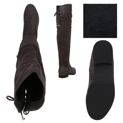 Overknees Overknees Damen Stiefel Grau Damen Grau Stiefel Damen Overknees Stiefel WIaqgZZ8