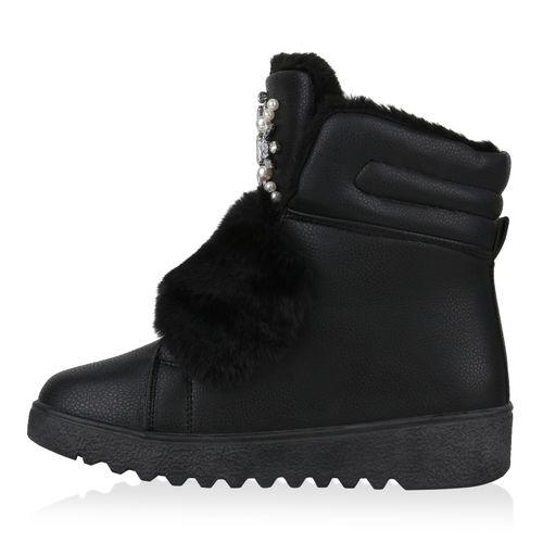 Winter Damen Boots Damen Schwarz Winter Stiefeletten Damen Boots Schwarz Stiefeletten v7BWq