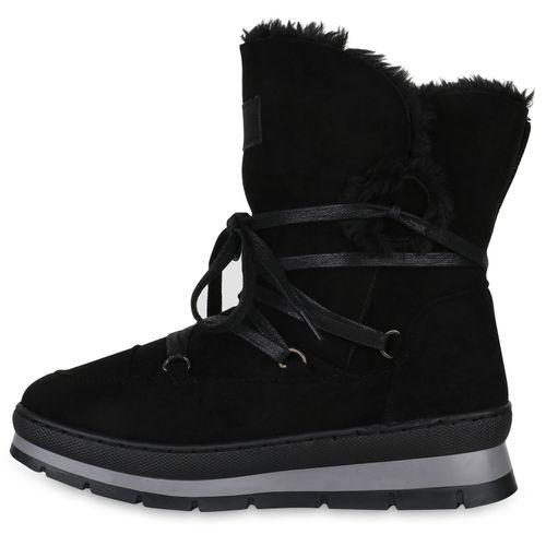 Damen Stiefeletten Winter Boots Outdoor Warm Gefüttert 824880 Schuhe