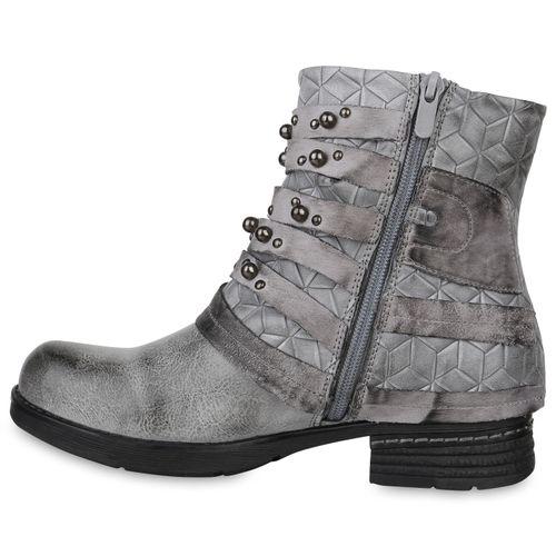 Stiefeletten Biker Hellgrau Damen Biker Hellgrau Biker Stiefeletten Damen Stiefeletten Hellgrau Damen Boots Boots Boots vv4xwqf1